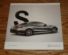 Original 2015 Mercedes Benz S Class Coupe Sales Brochure 550 63 AMG 65 AMG