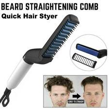 Plancha De Calor De Pelo Styler para hombres Curling Rizador Cepillo Eléctrico Peine Barba