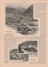 Simplon tunnel Simplon segmento Simplon ferrovia Brig articolo di giornale di 1901 colle
