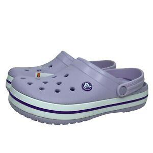 Crocs Crocband Womens Clog Cute Water Friendly Stylish & Comfy Purple Size 7,8