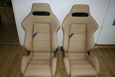 2 Recaro sportevo SPORT EVOLUTION BMW m3 e30 e34 Cecotto sedili sedile sportivo beige