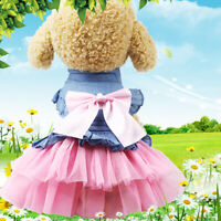 1X Cute Pet Cat Dog Tutu Lace Dress Skirt Puppy Princess Costume Apparel Clothes