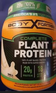 Body Fortress Complete Plant Protein Powder Gluten Free - Vanilla Exp 11/20