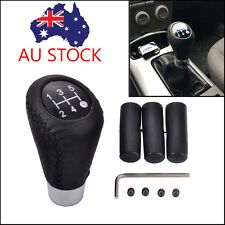 1x 5 Speed Black Stitche Universal Manual Car Gear Stick Shift Knob Shifter AU