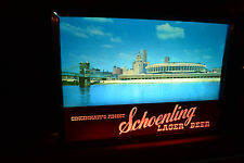 Vtg Schoenling Lager BEER MOTION LIGHTED TAVERN SIGN Cincinnati Ohio