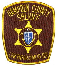 HAMPDEN COUNTY MASSACHUSETTS MA Sheriff Police Patch STATE SEAL INDIAN BOW ~
