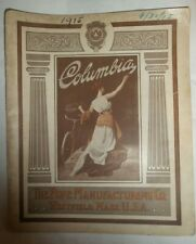 Antique 1915 Columbia The Pope Manufacturing bicycles catalogue rare collectible