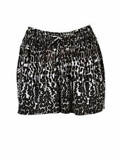 Polyester Mid-Rise Shorts for Women
