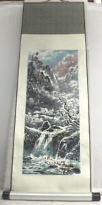 """BEAUTIFUL """"VINTAGE"""" ONE CHINESE PAINTING SCROLL PICTURE ART 39 X 12"""
