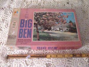 Vintage 1968 Milton Bradley Big Ben Blossom Time 1000 PC Jigsaw Puzzle