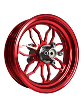 MOS Forged Aluminum Alloy Wheels Set for Honda Grom MSX Monkey 125 NON-ABS Red