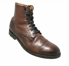 FRYE Men's Bowery Lace Up Combat Leather Boots Size 13 D
