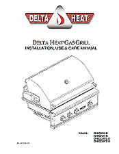 Delta Heat 38 Inch Propane Grill Printed or PDF Format   FREE SHIPPING