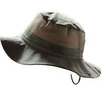 Wide Brim Military Unisex Sun Bucket Boonie Hat Hunting Fishing Outdoor Mesh Cap