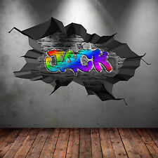 3D FULL COLOUR PERSONALISED GRAFFITI NAME Wall Art Stickers Decal Graphic WSD179