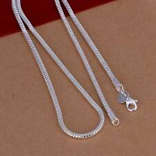 New 925Sterling Solid Silver Men Jewelry 3MM Snake Chain 22inch Necklace N192