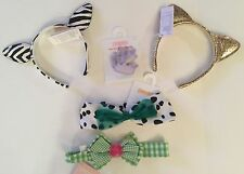 Gymboree Accessories Lot - Hair Bows,Clips,2 Animal Ear Heabands,Ponies New #94