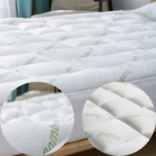 Extra Thick Mattress Topper Pad Cover Pillow Top Bamboo Cooling Ultra Soft