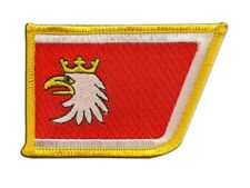 Polen Woiwodschaft Ermland-Masuren Aufnäher Flaggen Fahnen Patch Aufbügler 8x6cm
