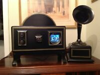 "Vintage Retro Television Set 2 1/2"" screen Prewar Early 1920's  Baird Style"