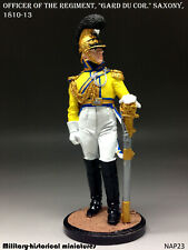 Officer Saxony 1810-13 Tin toy soldier 54 mm figurine sculpture HAND PAINTED