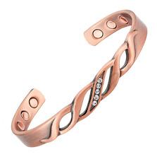 Bracelet magnétique cuivre et aimants -  Pétunia