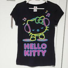 2007 MIGHTY FINE Sanrio Hello Kitty Graphic t-shirt top Juniors LARGE DJ music