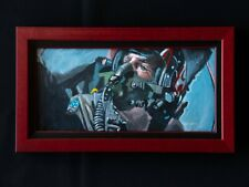 "TOP GUN ""MAVERICK"" ORIG Framed Painting on Board NM/M Artist Signed Aviation Art"