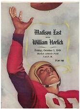 1948  Program Madison East v Racine Horlick High School Football Progrm