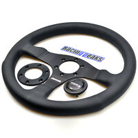 MOMO Competition Leather Steering Wheel 350mm NEW Sport Competition Tuning