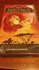 THE LION KING 2 SIMBA'S PRIDE -  DISNEY VHS VIDEO tape