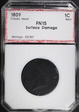 1809 LARGE CENT CLASSIC HEAD PCI F, SURFACE DAMAGE Lot 133