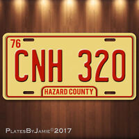 Dukes of Hazzard  General Lee CNH 320  Prop Aluminum Replica License Plate Tag