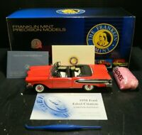 Franklin Mint 1958 Red Ford Edsel Citation 1:24 Precision Diecast Origin Box Ex