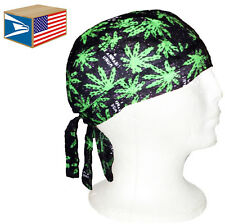 12 LOT SKULL CAP Marijuana Canabis Pot Weed SKULL CAP DOO DO DU RAG DURAG HAT!