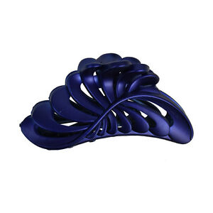 """5"""" Large Jaw Clip Jumbo Hair Claw w/Pearlized Leaf design Women's Hair Accessory"""