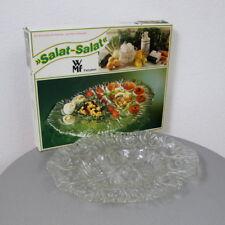 Neu WMF XXL Pressglas Salat Teller Partyplatte Kabarett Vintage 60er 70er J. OVP