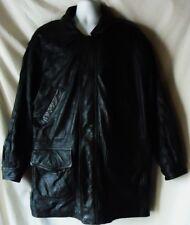 Men's Black Leather Coat Size XL