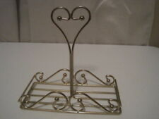 Home Interiors Gold Metal Double Candle Holder Caddy Holds 2 Candle In Jars