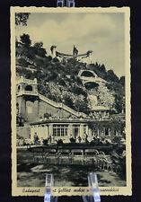Postcard Budapest St. Gerard Monument w/Pavillion Hotspring Hungary BW RPPC