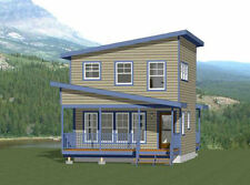 20x20 House -- 734 sq ft -- PDF FloorPlan -- Model 13A