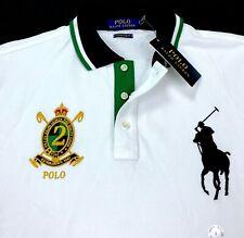 Ralph Lauren Polo Big Pony Crest Embroidered Custom Slim Fit Mens Mesh Shirt L
