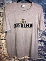 BOSTON BRUINS NHL Hockey Embroidered Logo SHort Sleeve TShirt Size XL🔥free Ship