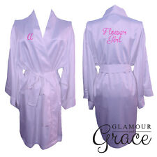 Children's Light Purple Lilac kids flower girl dressing gown robe bridesmaid