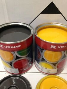 Volvo Digger Grey & Yellow Excavator Endurance Enamel Paint 1 Litre Tins
