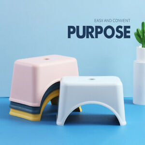 Thicken Plastic Square Stool Children's Low Stool Living Room Small Bench Home