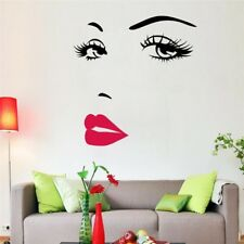 Removable Wallpaper Sexy Girl Lip Eyes Wall Sticker Home Decor Decals Art Poster