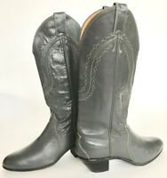 Justin Leather Tall Western Boots Women's 7 Style 4436 Gray Hot Look Excellent