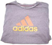 ADIDAS Boys T-Shirt Top 13-14 Years Grey Cotton  BI02