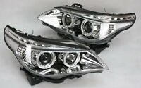 SCHEINWERFER SATZ für BMW E60 E61 LED TAGFAHRLICHT TFL LOOK CHROM LED BLINKER